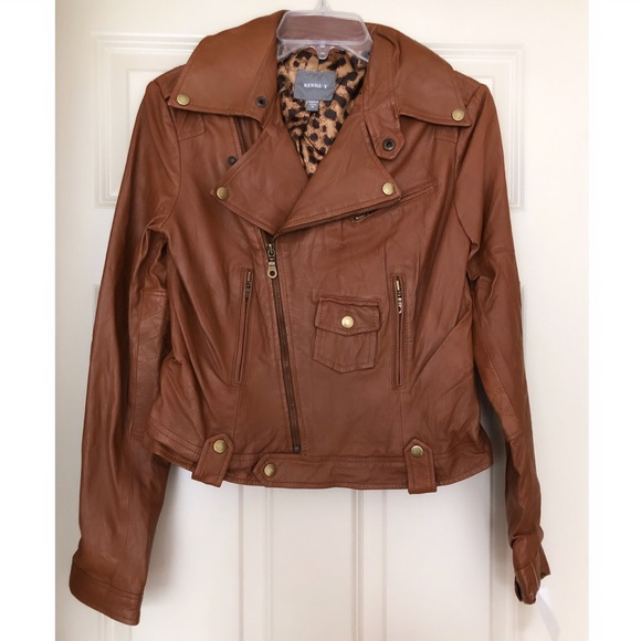Genuine Leather Zip Jacket